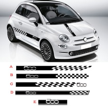Car Styling Hood Bonnet Stickers Body Door Side Skirt Stripes Decal Lattice Graphic Vinyl Film For F