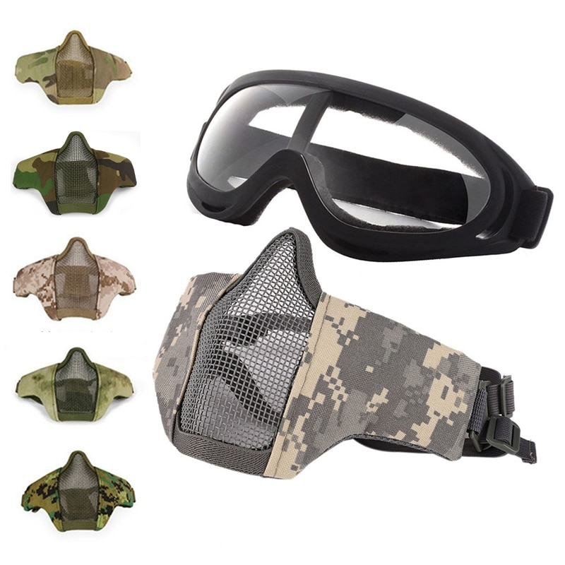 Jungle Adventure CS Outdoor Cycling Novelty Special Use Military Paintball Hunting Cosplay Half Face