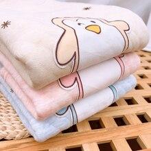2021 Children Winter Warm Clothes Sets 2 Pieces Long Johns Cartoon Penguin Stripe Printed Blue Pink