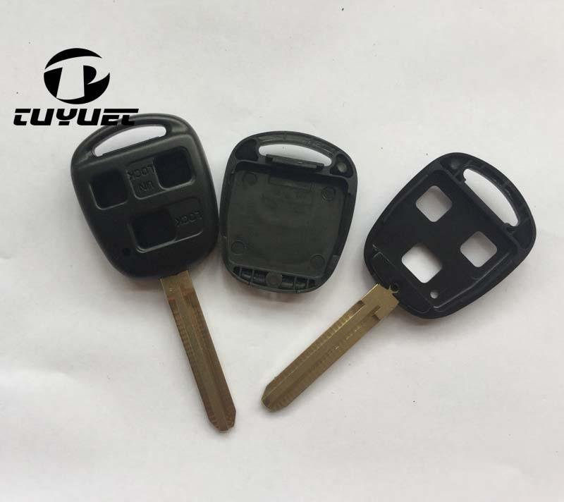 3 tasten Blank Auto Schlüssel Fall Für Toyota Remote key Shell Fob Keyless Fall TOY43 Klinge