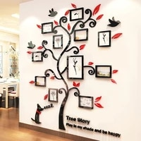 acrylic 3d photo frame tree room decoration photo frame removable diy art wall decor wall sticker tree two sizes drop shipping 4