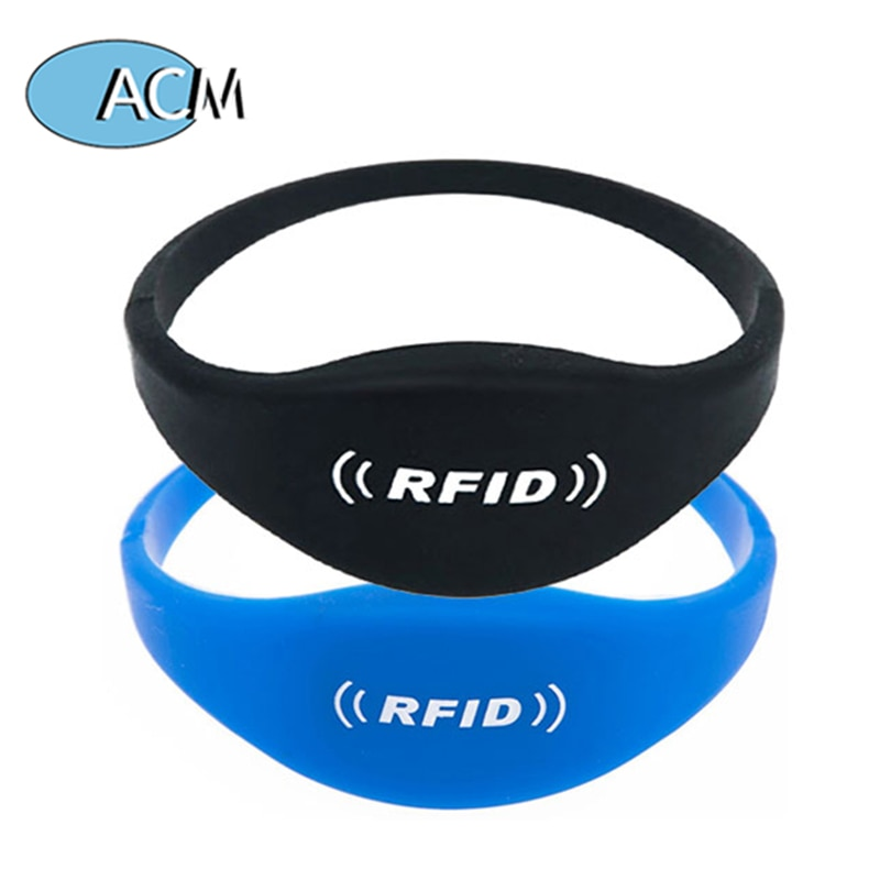 125KHz LF TK4100 Silicone RFID Wristband RFID Waterproof Wristrfids Used in Concert Tickets SPA Member Management