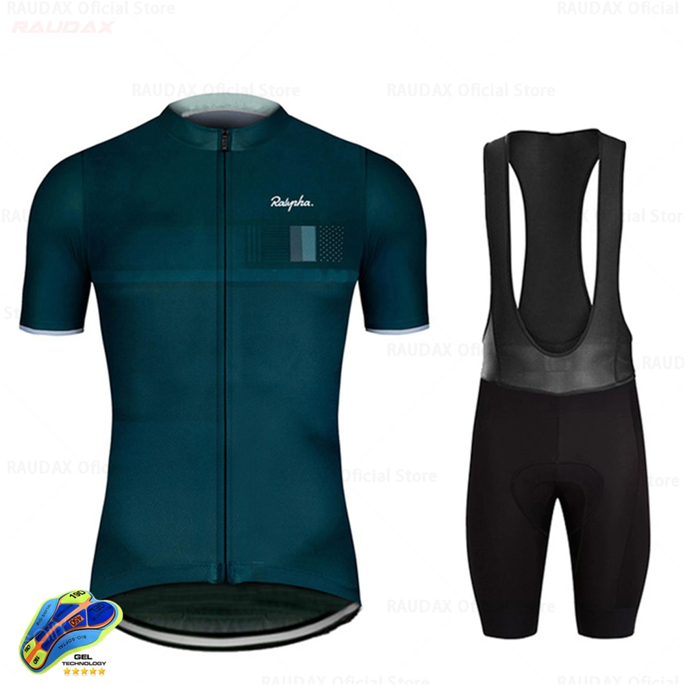 Raudax-Conjuntos de Ciclismo para triatlón, Ropa transpirable para Ciclismo de montaña, Verano,...