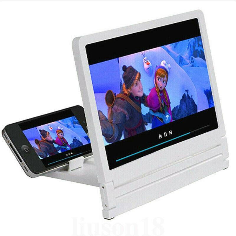 عدسة مكبرة عالمية ثلاثية الأبعاد لشاشة الأفلام عالية الدقة ومكبر للصوت لحوامل الهواتف الذكية والحوامل