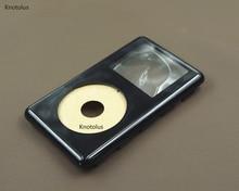 Knotolus Nero Anteriore della Piastra Frontale Dellalloggiamento Della Copertura di Caso per iPod di Colore Foto U2 20GB 30GB 40gb