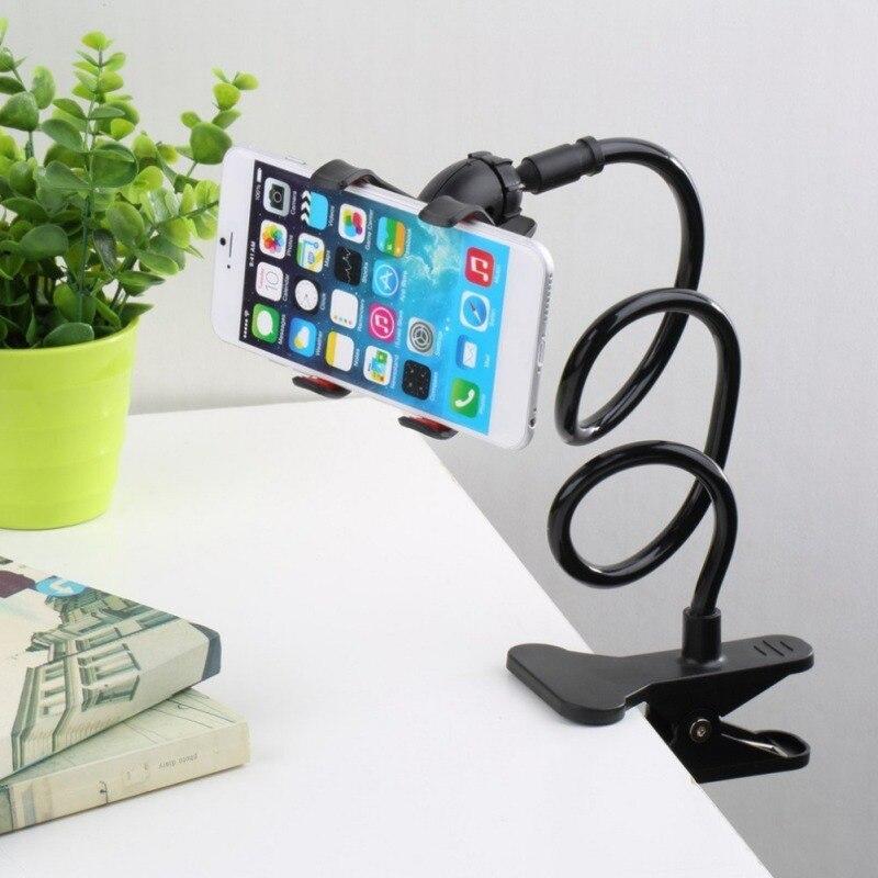 New Universal Flexível Titular Braço Gooseneck Stand Titular Do Telefone Móvel Preguiçoso Stents Flexível Cama Mesa desk Clipe Suporte para Telefone