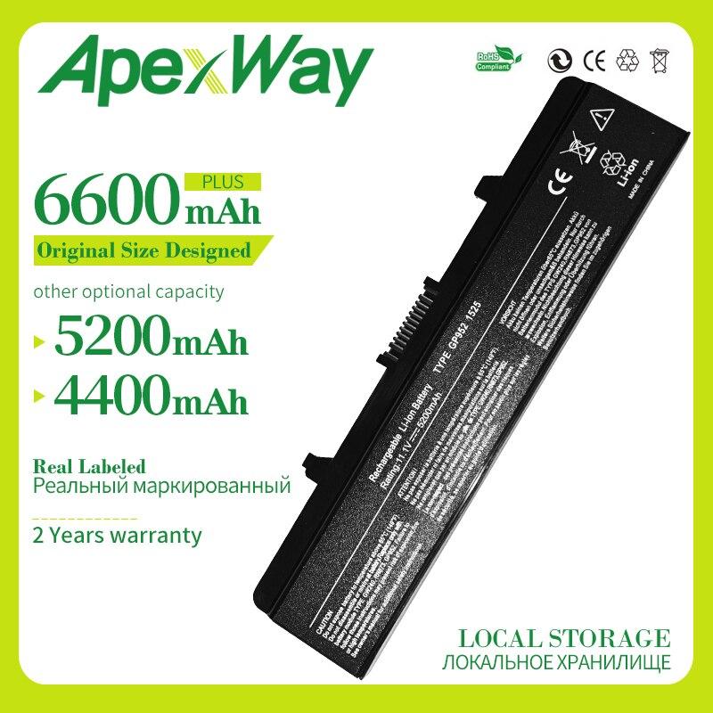 10,8 V 6 celdas de batería del ordenador portátil para Dell GW240 297 M911G RN873 RU586 XR693 para Dell Inspiron 1525 de 1526 de 1545 batería X284g