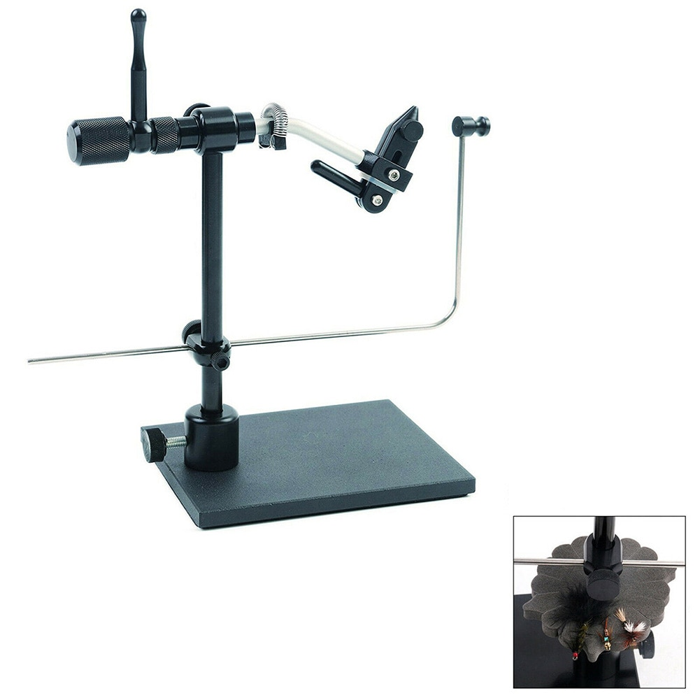 1set Fly Tying Vise Detachable Fly Tying Tool Aluminum+Carbon Steel Fly Tying Vise Clip Fly Hook Tool enlarge
