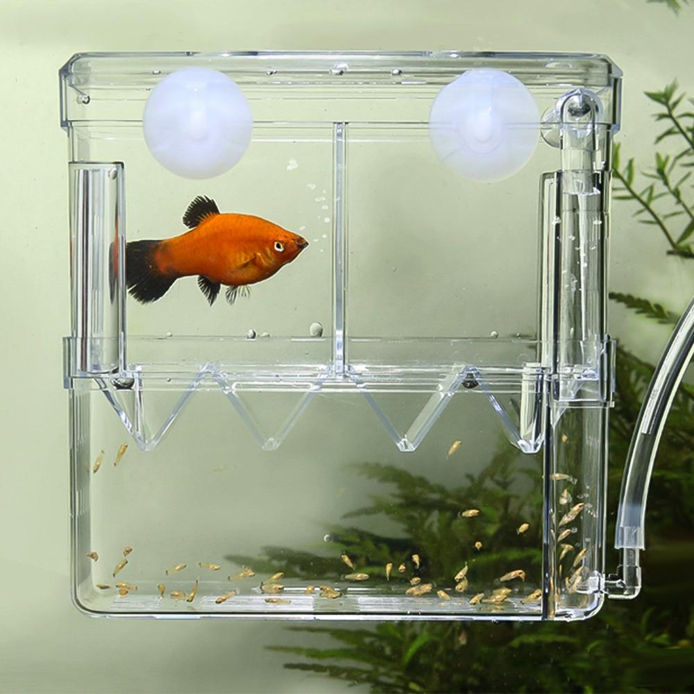 Big Size Aquarium Fish Breeding Box Floating Baby Fish Shrimp Hatchery Isolation Feedin Box for Aquarium Check Valve 1m Air Line