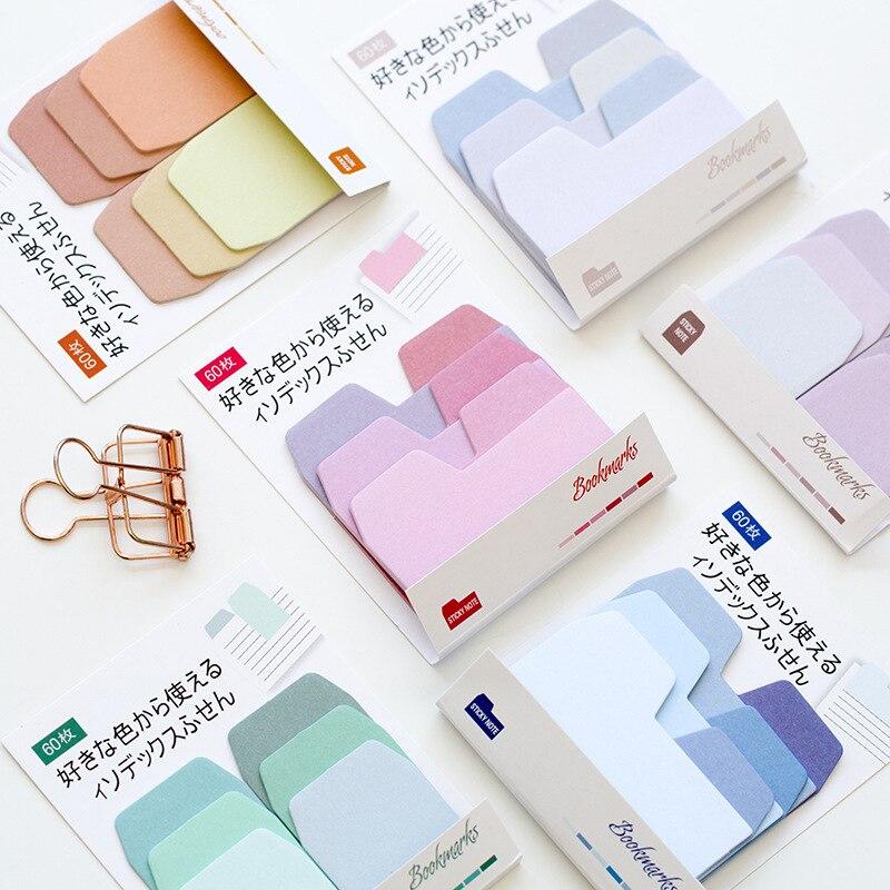 60 листов/упаковка, наклейки-закладки для заметок