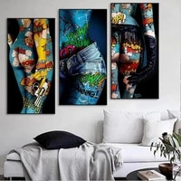 diy oil painting by numbers for adults graffiti pop art cool girl on canvas coloring drawing posters diy kits home wall decor