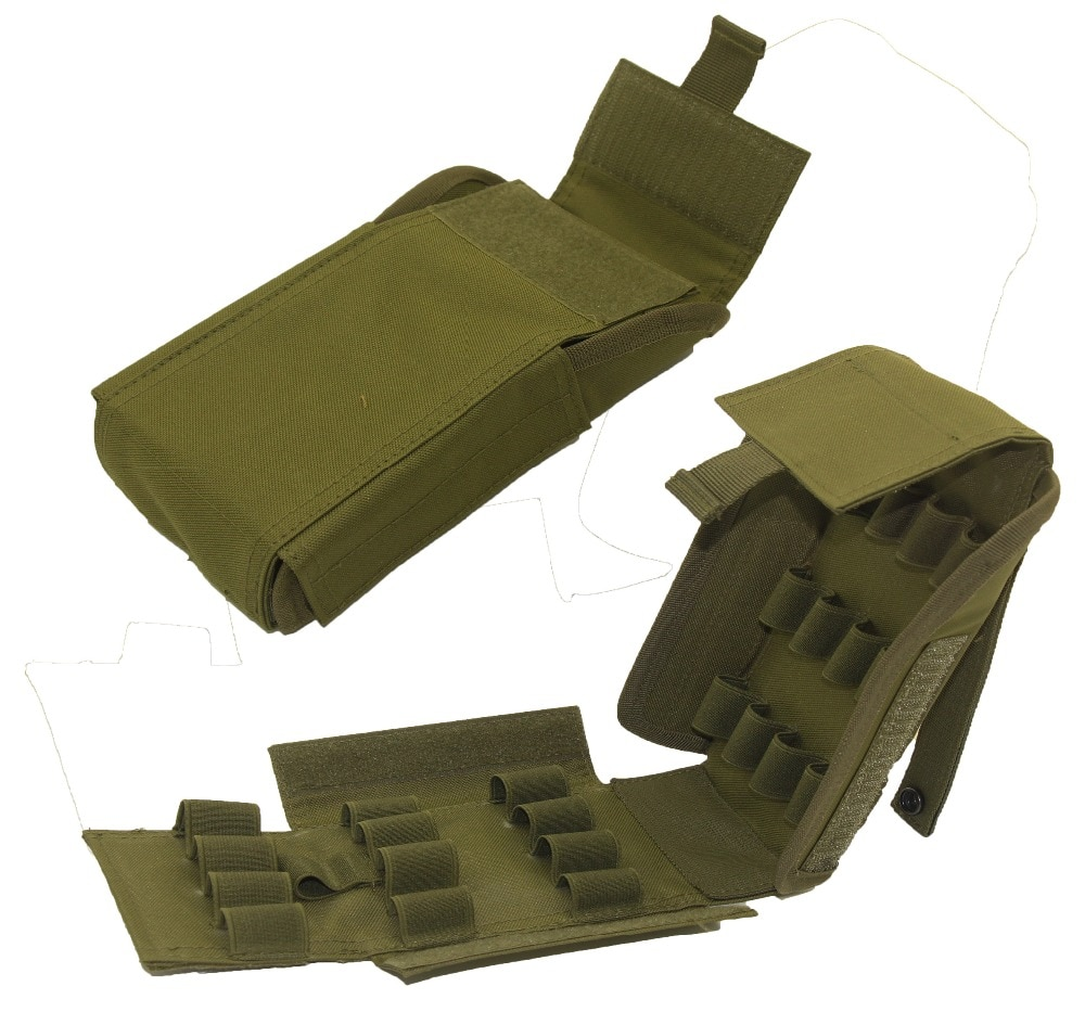 10 round 12gauge 12ga molle pouch tactical shell holder ammo bag military army hunting bandolier cartridges bullet holder bag Tactical Ammo Shells Shotgun Reload Magazine Pouch Army Molle 25 Round 12GA Gauge Hunting Ammo Mag Pouches Bag Airsoft Accessory