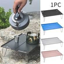 Mini Portable en alliage daluminium ultra-léger Table pliante étanche plage multifonction pique-nique barbecue randonnée Festival Camping en plein air