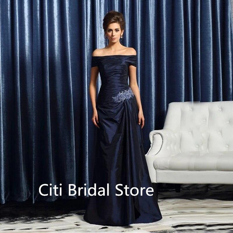 فساتين أم العروس لحفلات الزفاف حجم كبير أنيقة قبالة الكتف فستان الزفاف لأمي بسيطة المرأة مساء اللباس