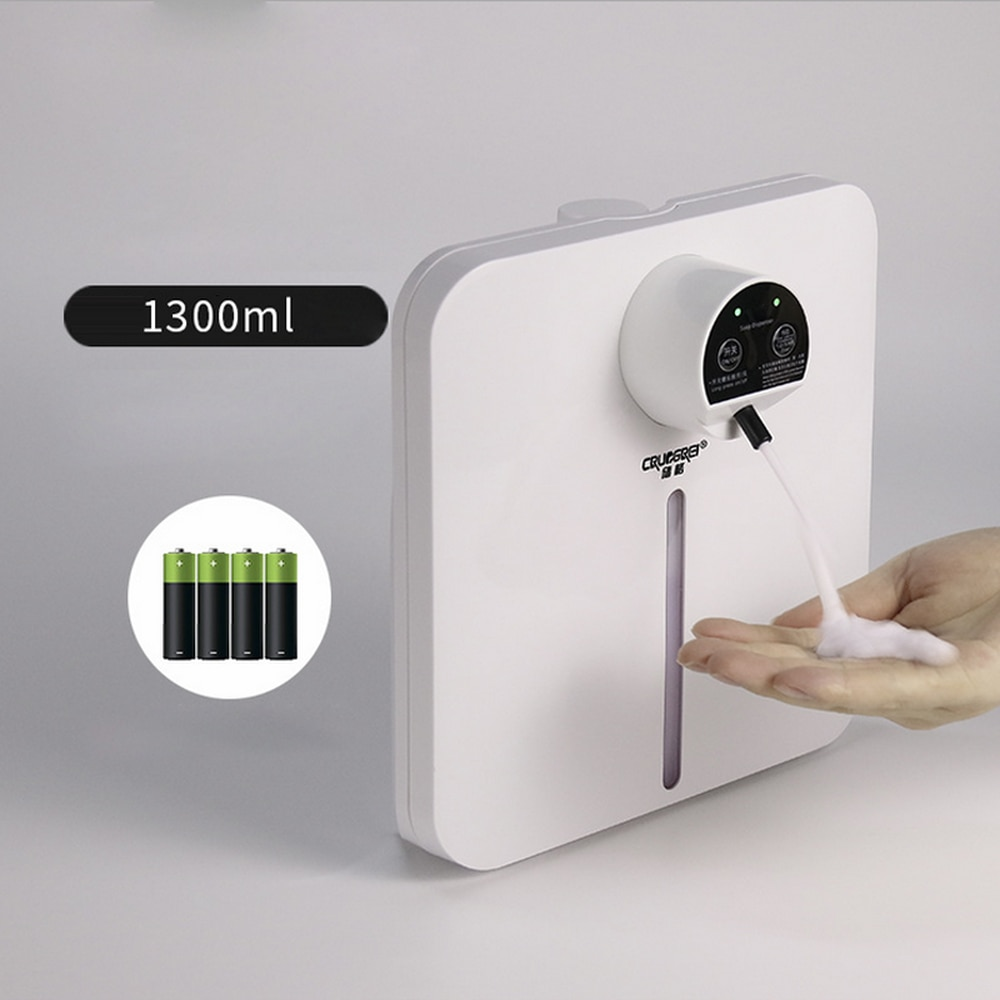 Sensor automático da máquina da sanitização do pulverizador do álcool das engrenagens touchless líquido automático fixado na parede da bomba do distribuidor do sabão da espuma 4 Dispensadores de sabão de cozinha    -