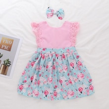 Toddler Baby Kids Girls Floral Flowers Ruched Dress Princess Dress Clothes vetement fille ropa niña