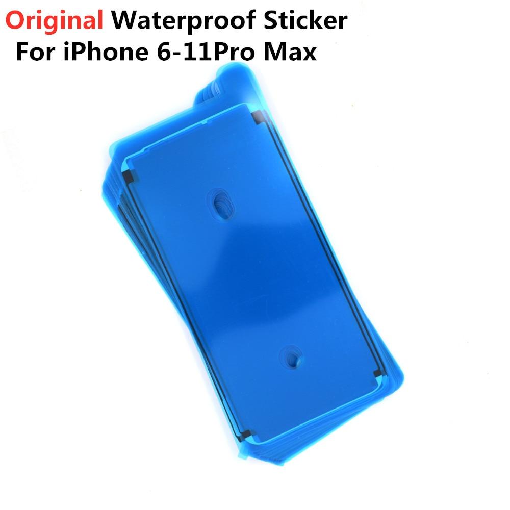 100 Uds Original etiqueta engomada impermeable para iPhone 6S 7 8 11 Pro Plus X XS X MAX XR pantalla LCD marco bisel cinta de sellado pegamento adhesivo 3M