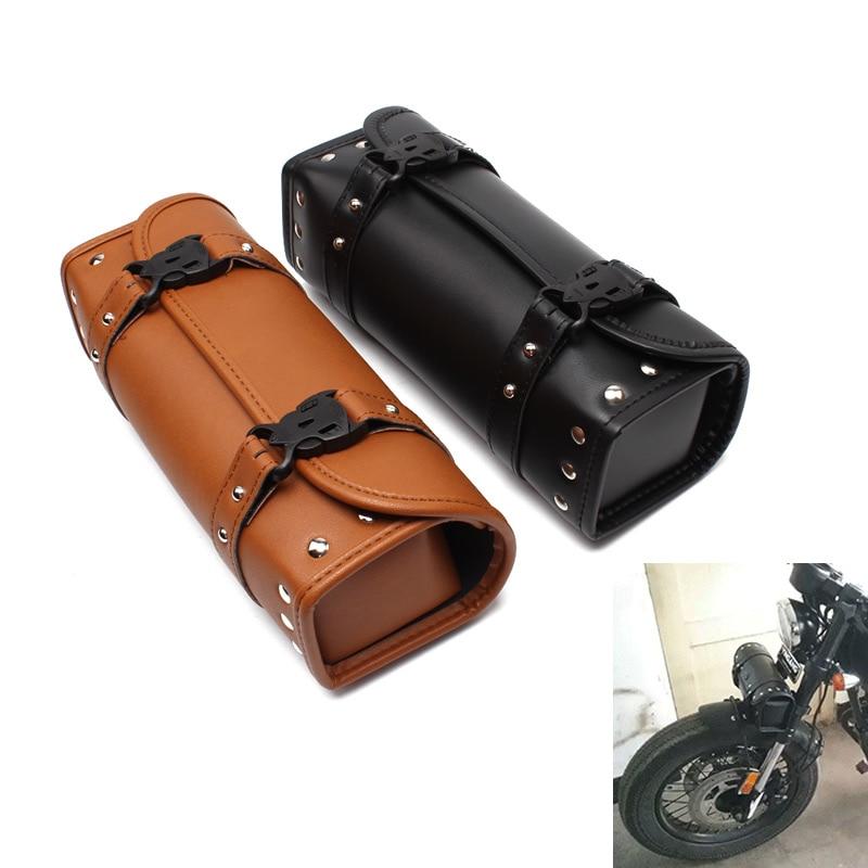 Evomosa, bolsas de herramientas, alforjas, bolsas de almacenamiento para teléfono, Maleta, motocicleta, Chopper, Cruiser, Bobber, Softail, Bolsa lateral para Harley, Honda, BMW