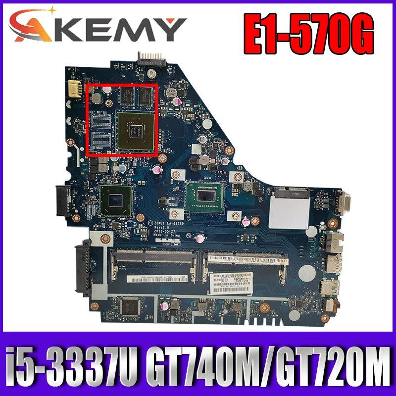 Z5WE1 LA-9535P لشركة أيسر E1-570G E1-570 اللوحة المحمول وحدة المعالجة المركزية i5 3337U GT740M GT720M DDR3 اختبار موافق اللوحة