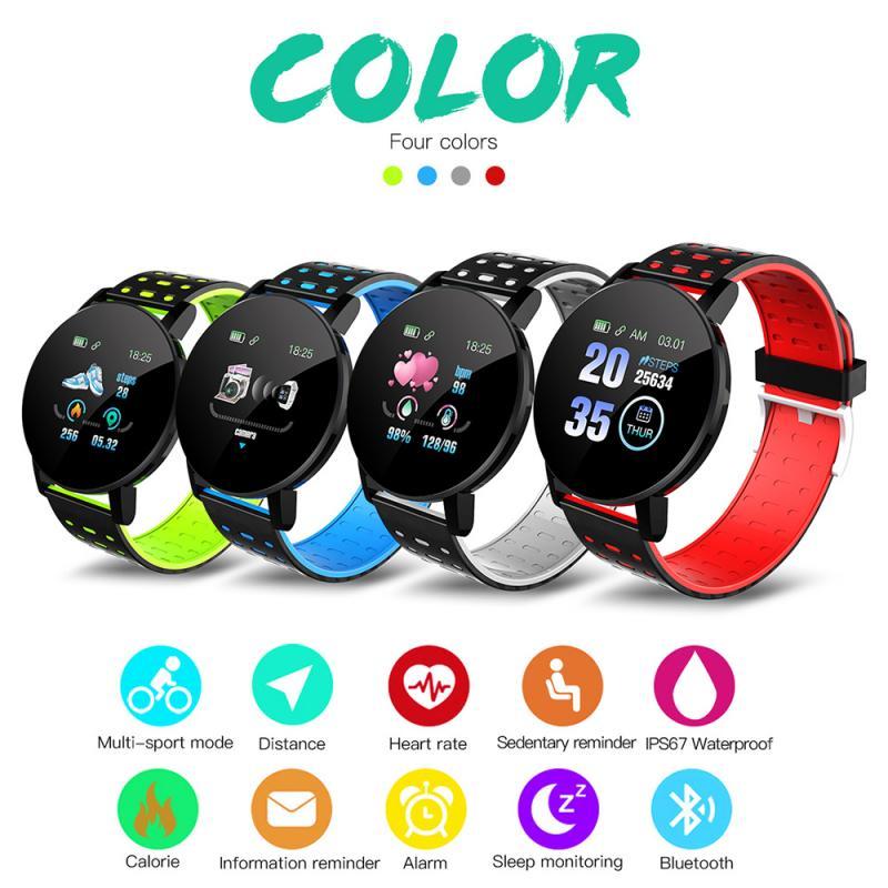 2021 New 119Plus Smart Watch Men Blood Pressure Smartwatch Women Watch Sport Tracker WhatsApp For Android Ios PK B57 116 D13 M4