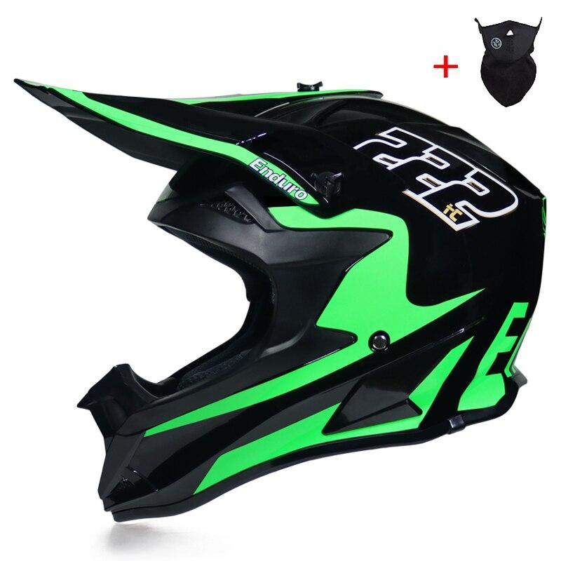 Мотоциклетный шлем, защитный шлем для езды по бездорожью, с сертификатом DOT, на все лицо, классический, для горных велосипедов, DH, 2019