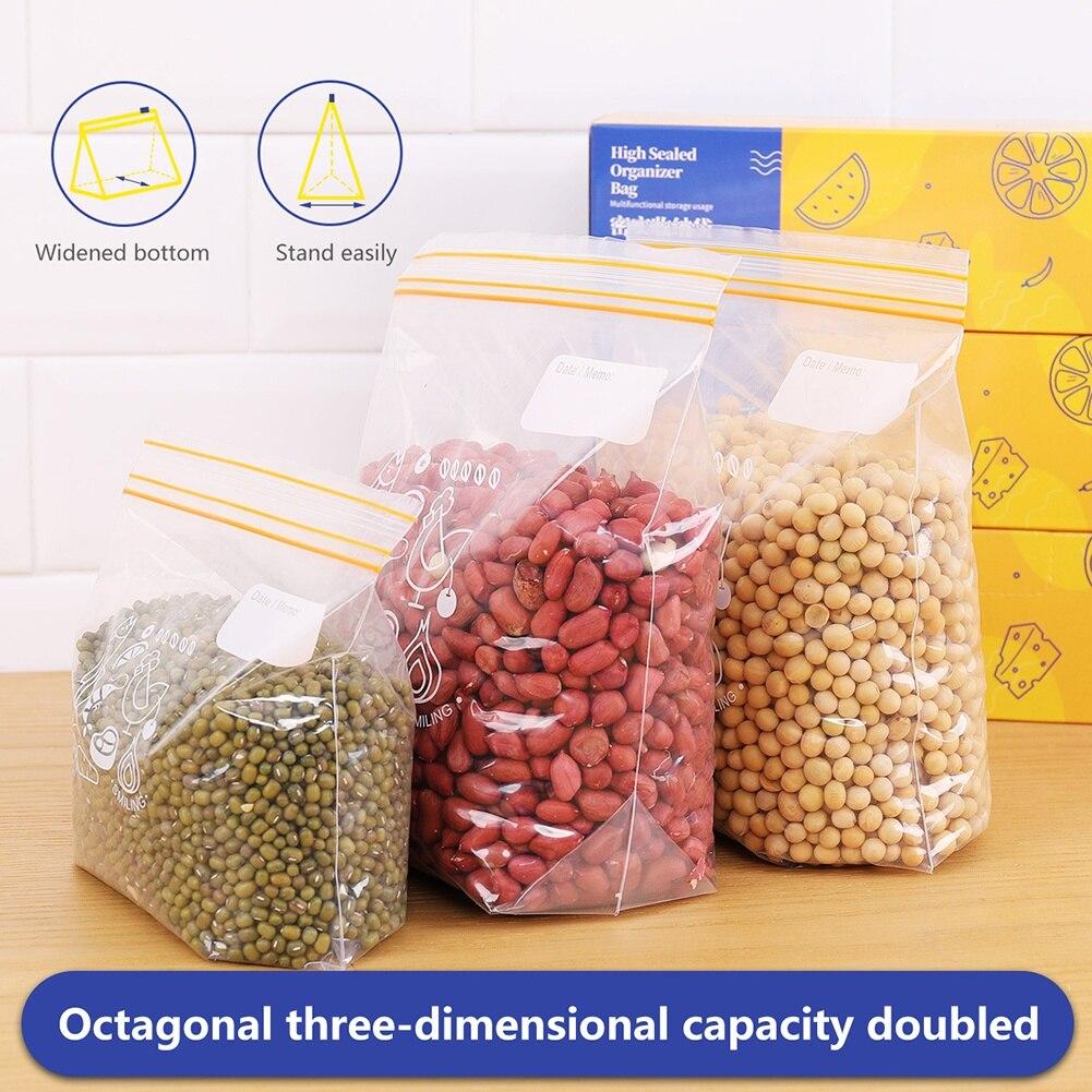 Многоразовые Пакеты для хранения пищевых продуктов с молнией для хранения пищевых продуктов запечатанный трехмерный дизайн самозапечатыв...
