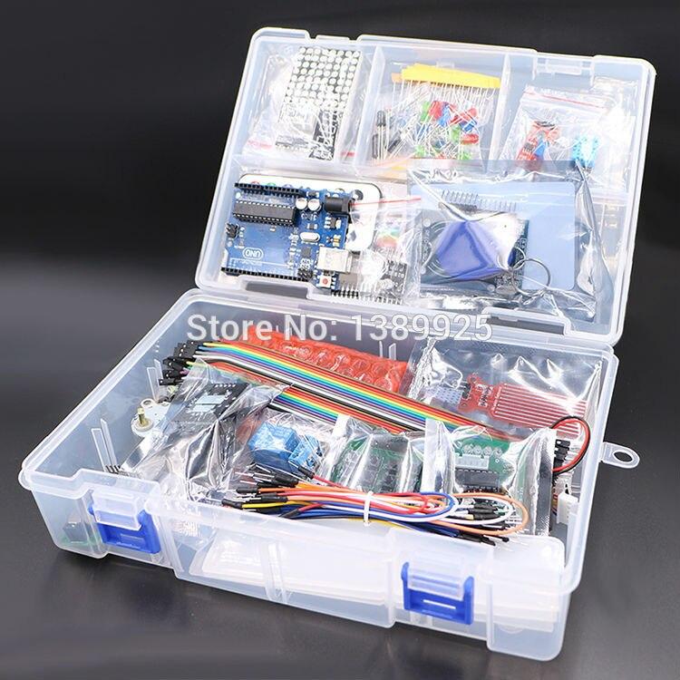 Aktualisiert Erweiterte Version RFID Starter Kit Lernen Suite 1602 LCD Starter Kit für Arduino UNO R3 mit Tutorial