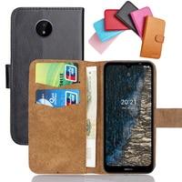 Чехол для Nokia C20, 6 цветов, 6,52 дюйма, Кожаный Модный Роскошный многофункциональный чехол для Nokia C20, чехол для телефона с отделениями для карт