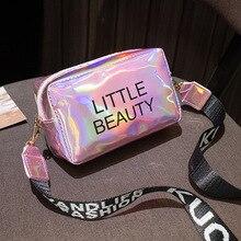 ผู้หญิงเลเซอร์ Crossbody กระเป๋า Messenger ไหล่มินิกระเป๋า2020 Jelly เลเซอร์ Unisex ขายส่งเจลขนาดเล็ก Satchel กระเป๋า