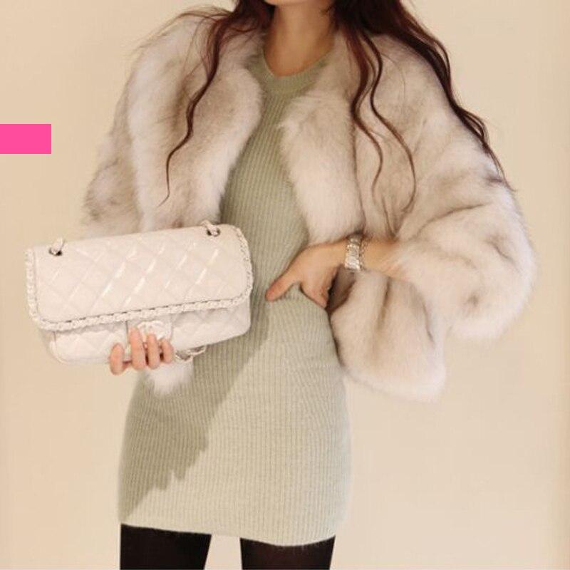 Short imitation fur coat women's clothing autumn and winter fur coat