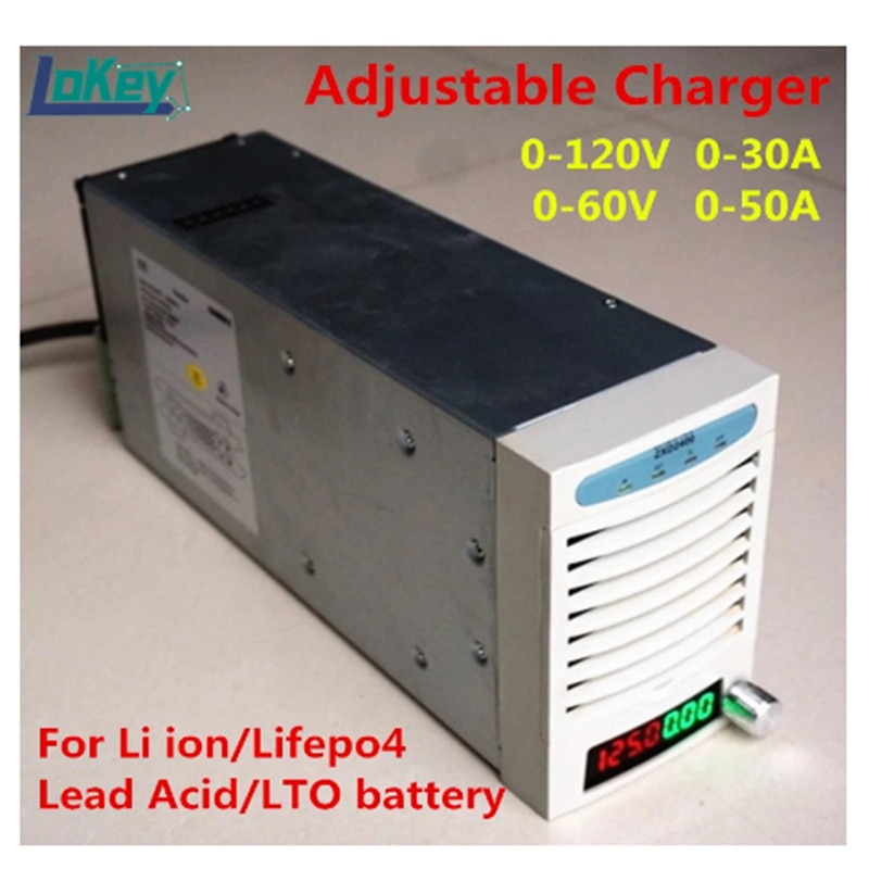 Adjustable Charger 0V to 125V 0A to 50A for Li-ion Lifepo4 LTO lead acid Battery 48V 60V 72V 84V 96V 108.8V 20A 30A 40A charger