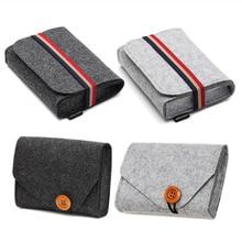 Sac de gadgets électroniques   Mini pochette en feutre 1 pièce, sacs de rangement pour voyage, câble de données USB, souris, organisateur de gadgets électroniques