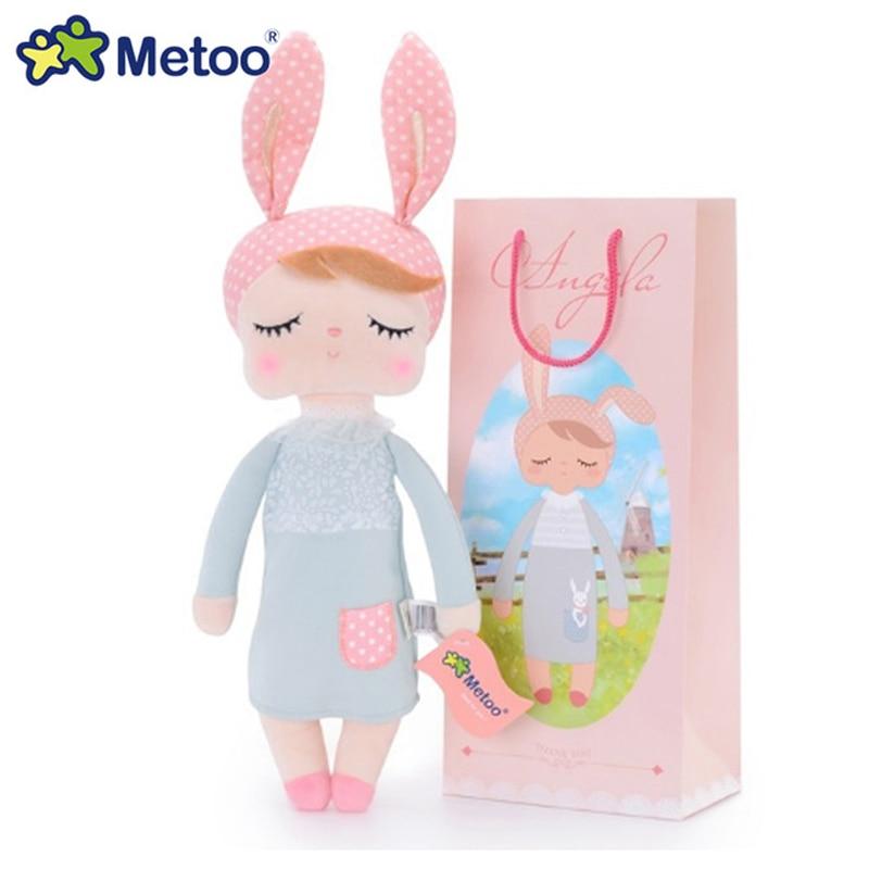 Кукла Metoo 34 см, мягкие плюшевые игрушки для девочек, детские мягкие игрушки, милый мультяшный Кролик для детей
