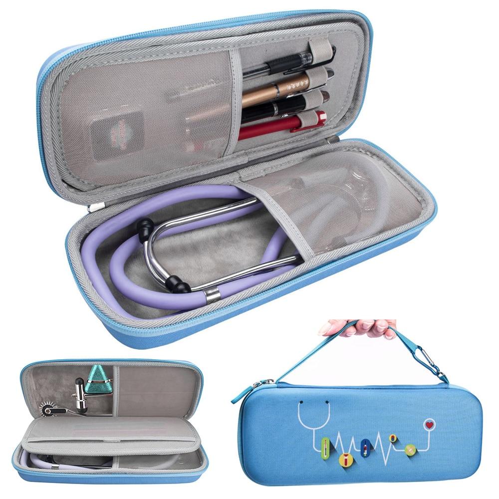 New EVA Hard Shell Portable Stethoscope Storage Bag Travel Carrying Case Box for Hard Drive Pen Medi