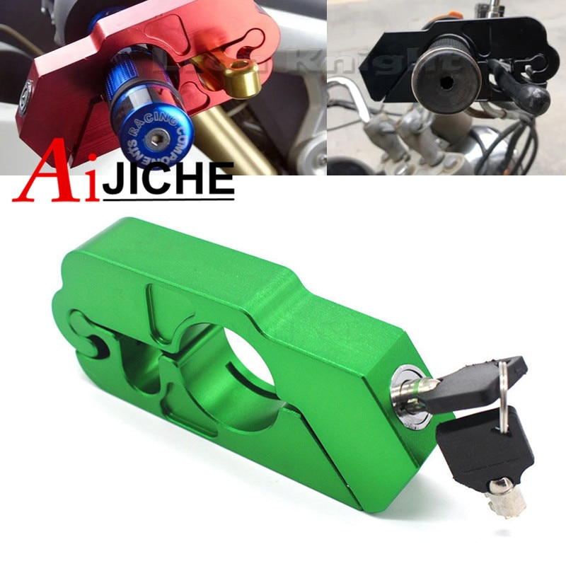 Motorcycle Handlebar Lock Brake Clutch Security Safety Theft Protection Scooter Locks For Kawasaki ZX-6R ZX-10R ZX6R ZX10R