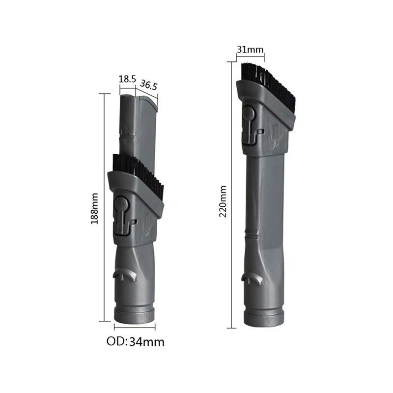 Cabeça plana da sucção da escova do bocal para dyson dc35 dc45 dc58 dc59 dc62 v6 aspirador de pó peças de reposição acessórios 2 em 1 escovas
