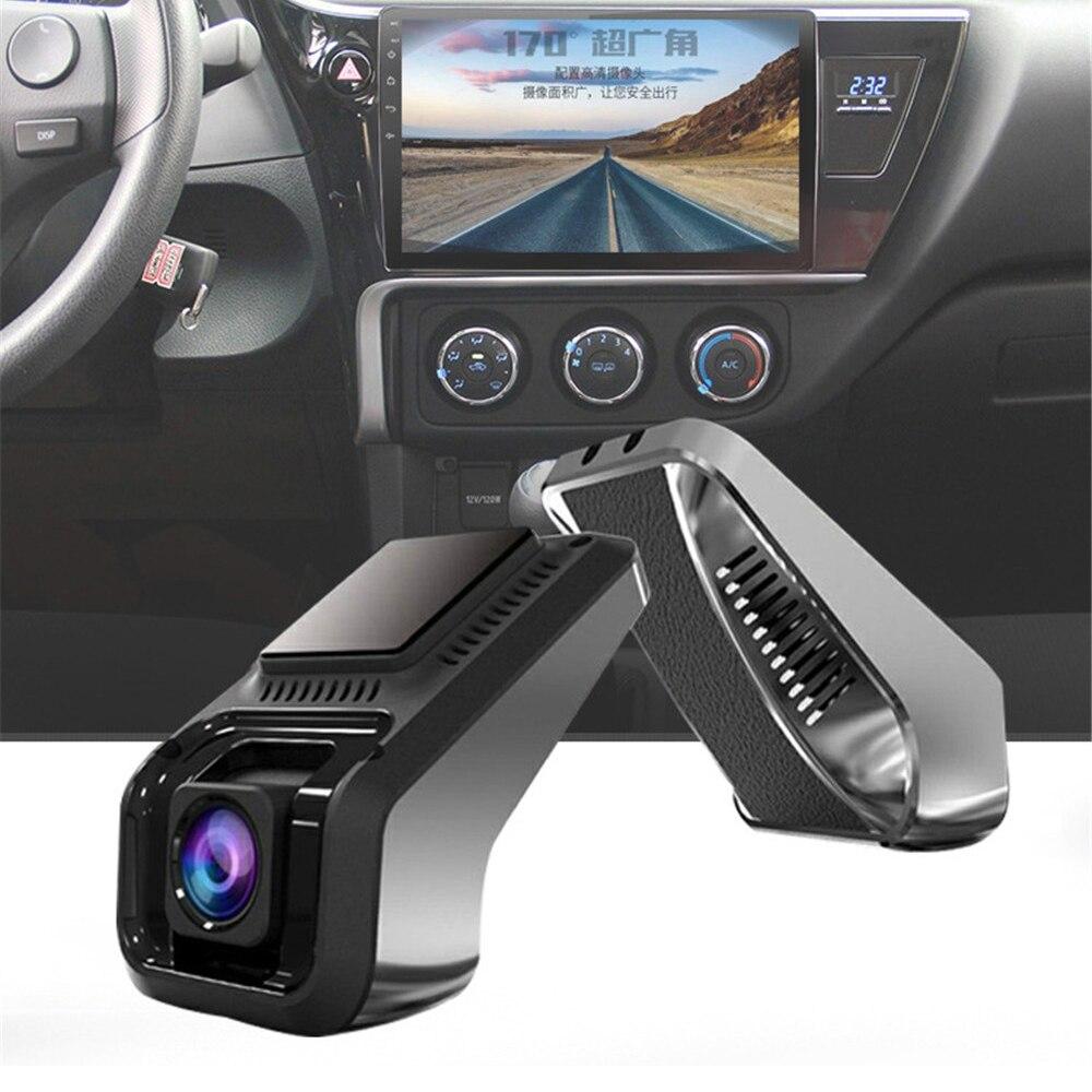 Cámara de salpicadero con lente Dual cámara con grabadora para coche Dvr ADAS 1080P navegación USB Video conducción recortando cámara delantera y trasera U8