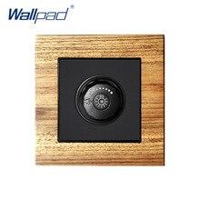 Interrupteur à panneau en bois   Gradateur à distance, Interrupteur murale de luxe, Interrupteur à boutons