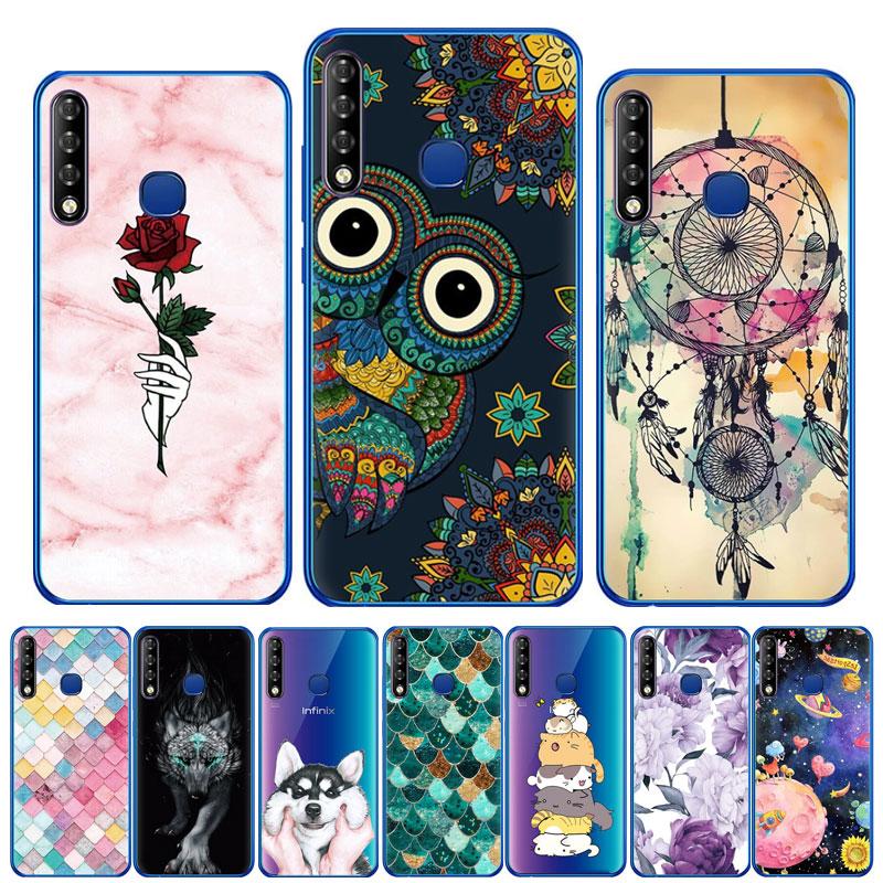 Silicone Case For infinix Smart 3 Plus X627 X5516 Cartoon Soft TPU Back Cover Phone Case For infinix Zero 6 Pro X620 Note6 X610B