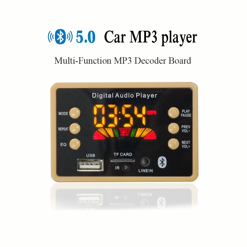 Drahtlose Bluetooth MP3 WMA Decoder Board Audio Modul Unterstützung USB TF AUX FM EQ funktion Audio Radio Modul Für Auto zubehör