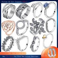Anelli in argento Sterling 925 per le donne anelli fortunati di fiori popolari all'ingrosso per gioielli da donna che fanno anelli Dorpshipping 2021 trend