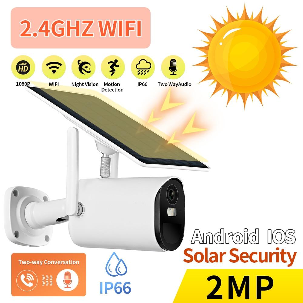 Solar Camera WIFI 1080P HD  IP Camera 8W Solar Panel PTZ Battery  Wireless Security Camera CCTV Video Surveillance Camera