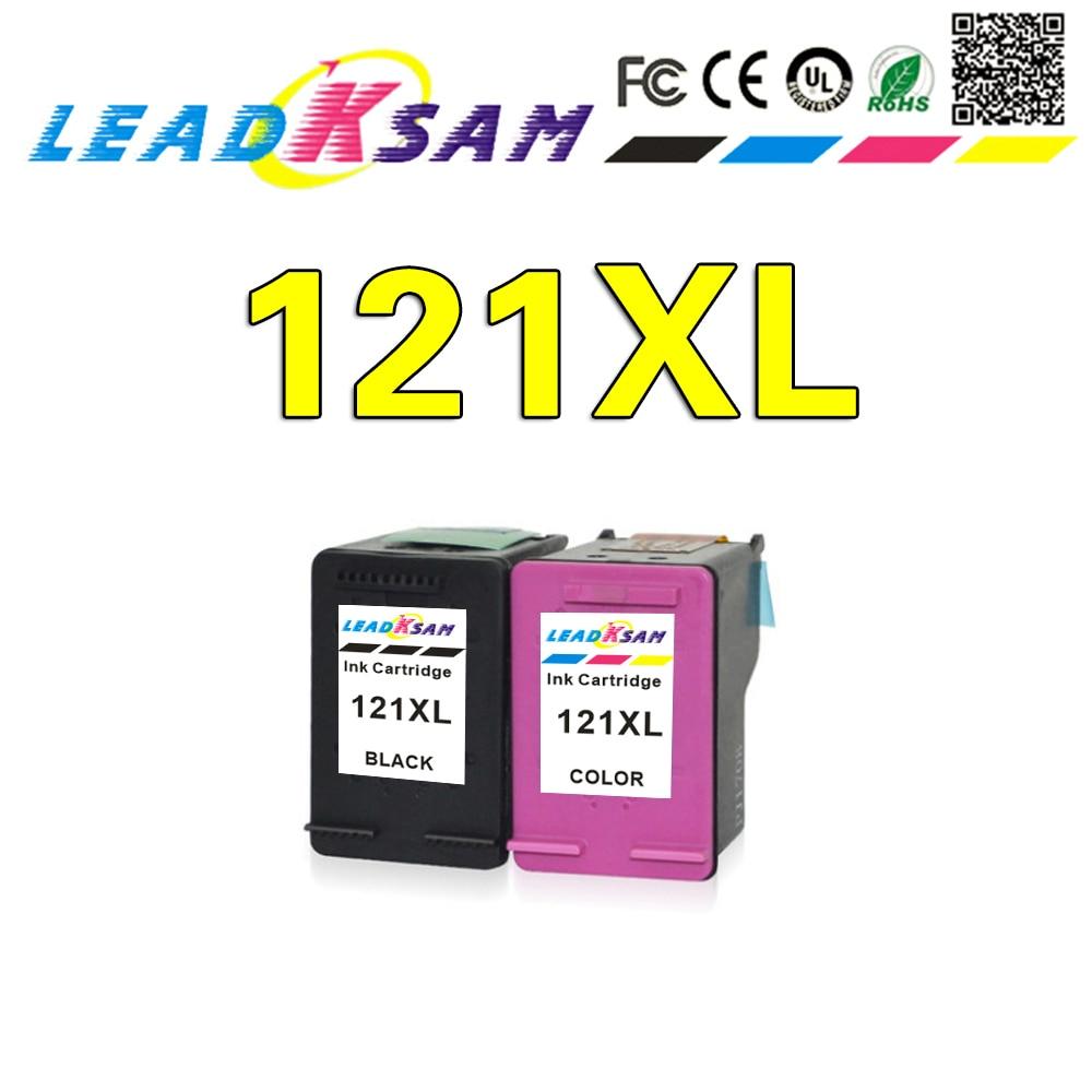 LEADKSAM 121XL cartucho de tinta compatible para hp 121 xl para hp 121 Deskjet serie D2563 F4283 F2423 F2483 F2493 F4213 F4275 F4283 impresora
