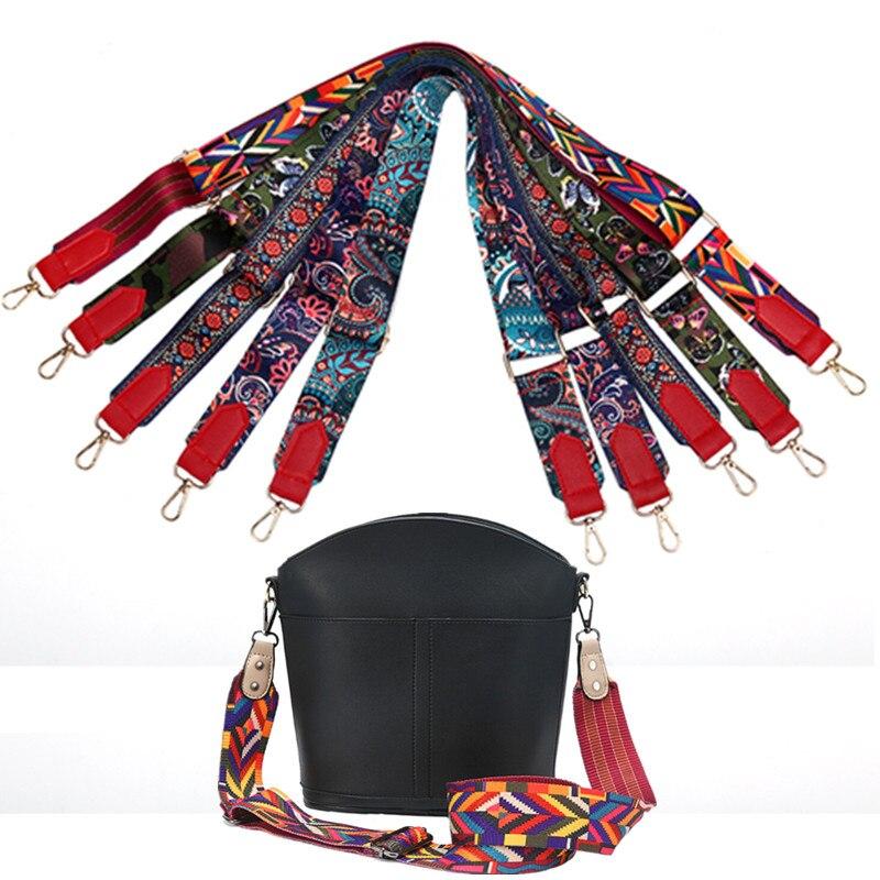 1PCS Colored Bag Handles Bag Strap For Women Removable DIY Shoulder Rainbow Handbag Accessories Cros
