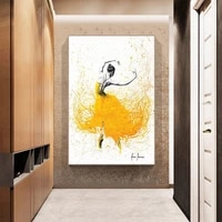 ballet dance girl canvas painting home wall decor hd printed elegant dancing ballerina modular picture ballet posters and prints
