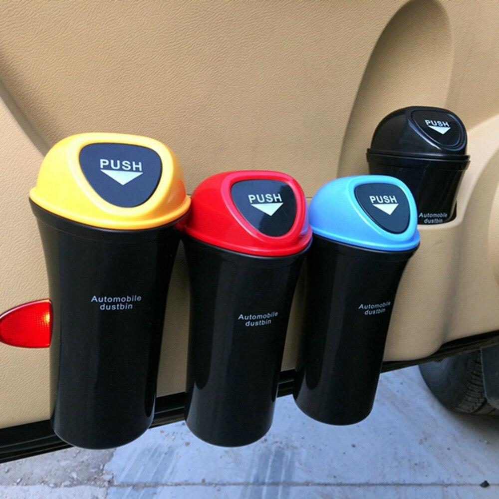 Cesto de basura de coche caliente organizador de basura para automóviles bolsa de almacenamiento accesorios coche puerta asiento trasero Visor basura papel de papelera cubo de basura