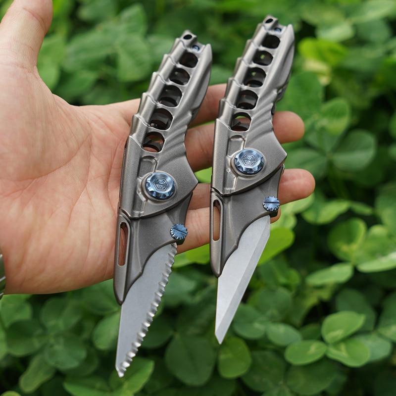 Titanium Alloy Folding Utility Knife Multi-function EDC Bearing Quick Release Blade enlarge