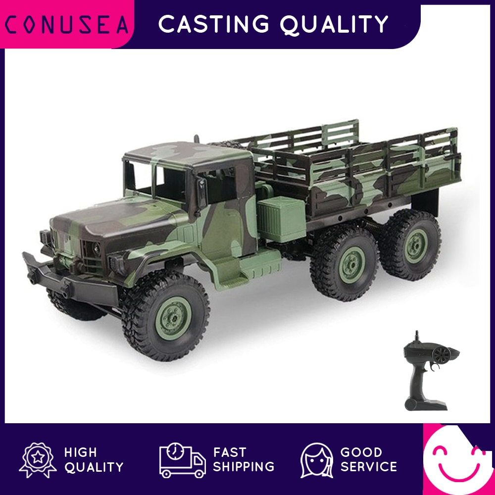MN Model MN-77 RC Truck Military Trucks 1:16 Remote Control Car Dodge M35 All-Terrain Crawler Off-Road Army Truck Toys for Kids 1 12 mn 90k rc crawler car 2 4g 4wd remote control big foot off road crawler military vehicle model rtr remote control truck toy