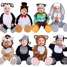 Umorden Halloween Costumes enfant en bas âge bébé animaux tigre Lion Panda lapin hibou pingouin Costume Cosplay pour bébé fille garçon