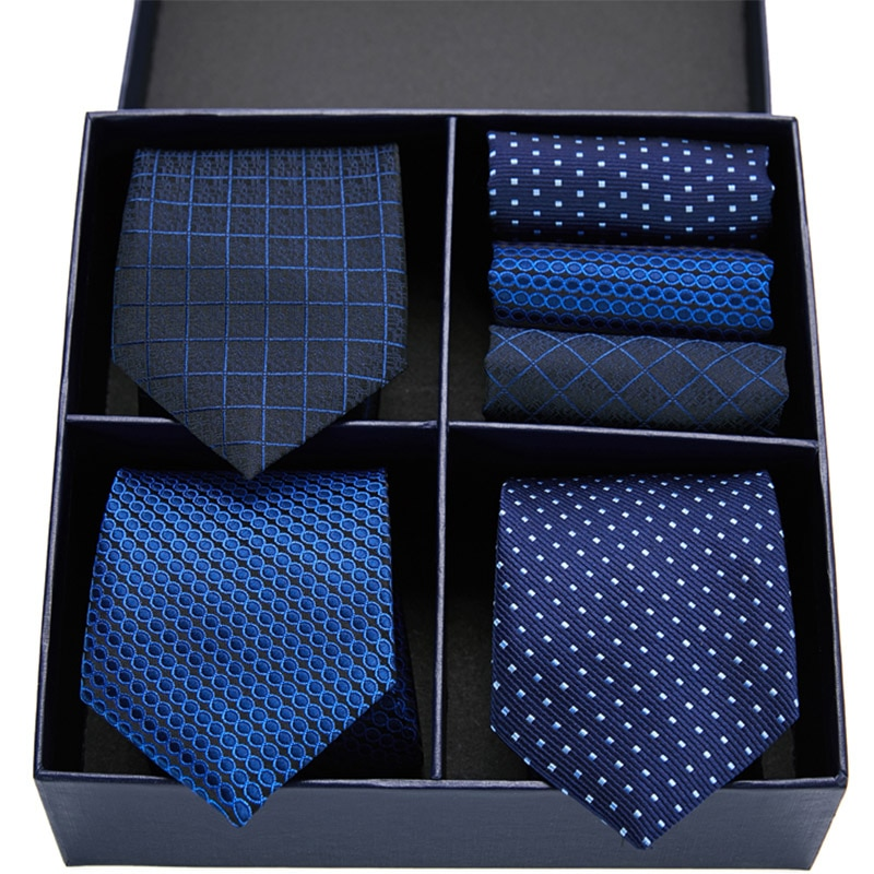New 7.5 cm Silk tie skinny Dot Stripe necktie high fashion plaid ties for men slim cravat neckties for men's Wedding Party